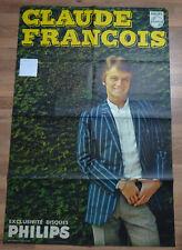 Affiche CLAUDE FRANCOIS 1966 format 80 x 120 cm