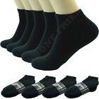 Black 3-12 Pairs Mens Ankle Quarter Crew Socks Cotton Low Cut Size 9-11 10-13
