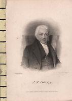 1834 Datierter Georgianisch Porträt Aufdruck ~ Samuel Coleridge