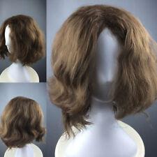 Brown Mens Wig Short Wavy Curly Halloween Party Hair Joker Cosplay Costume Wig