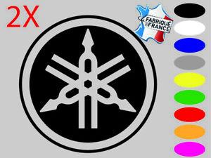 2X Stickers autocollant Yamaha  logo 9 couleurs et 3 dimensions au choix