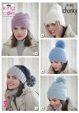 KINGCOLE 5185 Chunky KNITTING PATTERN for Hats -not the finished garments