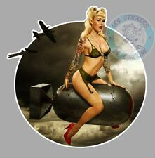 STICKER PINUP BOMB AUTOCOLLANT PIN UP MISSILE BOMBE VINTAGE TRUCK BIKER PF048