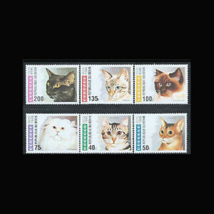 Benin, Sc #761-66, MNH, 1995, Complete set, Cats, GD-A