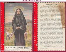 3304 SANTINO HOLY CARD S. SANTA FRANCESCA SAVERIO CABRINI  MACCHIATO