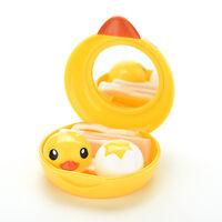 Contact Lenses Lens Case Holder Box Portable Travel Kit Set  Cute Yellow Duck hc