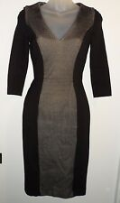 French Connection NWT $268 0 Dress Black Gray Textured Weave Career Holiday CHIC