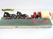 Chevaux carrosse Four-Horse-drawn Coach Carriage, Pfuit Historical 1:43 en Boîte