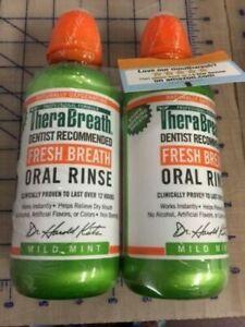 TheraBreath Fresh Breath Dentist Formulated 24-Hour Oral Rinse, Mild Mint, 16 ..