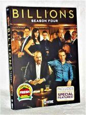 Billions Season 4 (DVD, 2019, 4-Disc) NEW Maggie Siff Paul Giamatti Damian