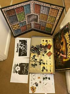 Hero Quest role playing board game vintage incomplete unpainted piece