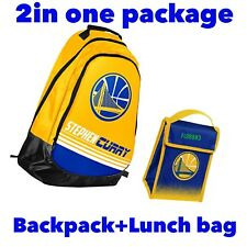 Stephen Curry NBA Golden State Warriors Backpack+Lunch bag 2 in1 Package