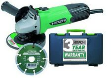 "Heavy Duty Hitachi G12ss 580 W 4,5 "" 115mm 110v Amoladora Angular & Disc + Funda Nueva"