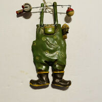 Christmas Ornament Fishing Overalls With Fishing Pole And Fish