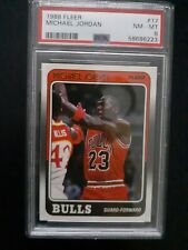 1988-1989 Fleer Michael Jordan Chicago Bulls #17 PSA 8 Perfectly centered.