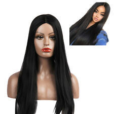 KF_ Lady Fashion Central Parting Long Straight Full Wig Club Hairpiece Decor U