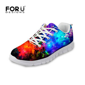 Galaxy Space Mens Walking Cross Trainer Shoes Man Running Sport Smart Sneakers