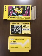 Game soft Famicom 『Pinball』Box and with an instructions from Japan④