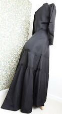 antique edwardian black dress mourning bustle gothic original vintage 1905 1910
