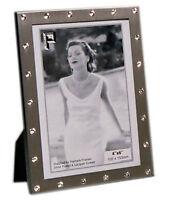"Silver Photo Picture Frame 4x6"", 5x7"" & 8x10"" - Crystal Border - Matt Silver"