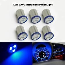 6X BA9S LED DASH INSTRUMENT CLUSTER GAUGES ASH TRAY GLOVE BOX LIGHT BULBS Blue