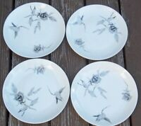 SET  OF 4 ROSENTHAL CONTINENTAL  JET ROSE Bread / Butter  Plates  RAYMOND LOEWY