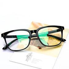 Black Myopia Frame Eyeglass Optical Square Frame Clear Lens Glasses
