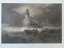 SAINT NAZAIRE Marine St FELIX BENOIST Lithographie GRANDE GRAVURE ANCIENNE 1850