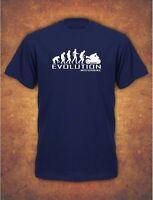 Evolution Of Motorbike Motorcycle Rider Bike Biker Mens T-Shirt  Navy