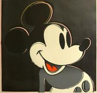 Andy Warhol  Mickey Mouse from Myths Portfolio 1981 Silkscreen with diamond dust
