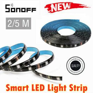 Sonoff L1 Smart WIFI LED Light RGB Waterproof Strip Lamp Kit For Google Alexa