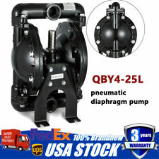 Aluminum Air-Operated Double Diaphragm Pump 35 GPM 150 ℉ 120 psi QBY4-25L Newest