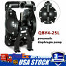 Double Air-Operated Diaphragm Pump 1 inch Outlet & Inlet 35GPM Petroleum Fluids