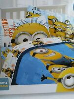 "Despicable Me Minion Twin Comforter With Pillow Sham 64"" x 86"" Microfiber Soft"