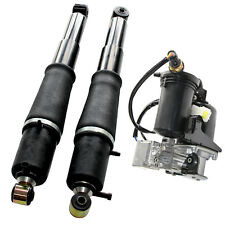 Docas 2 Rear Shocks & Air Compressor Air Pump for Yukon Suburban Tahoe Escalade