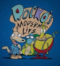 XXL Rockos modern life t shirt: classic nicktoon retro punk rock