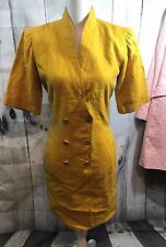 Vintage UNGARO Parallele Dress Mustard Color paris