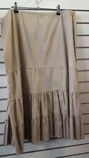 MG4798 ladies cotton skirt beige NWOT size 14 16 work career casual weekend