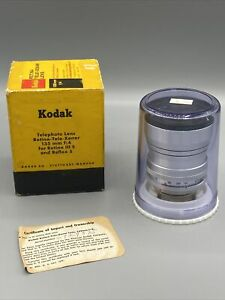 Kodak Schneider 135mm f4.0 Tele-Xenar lens For Kodak Reflex Retina Mint W/ Box
