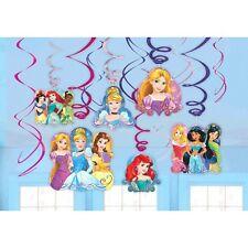 Disney Princess 'Dream Big' Birthday Party 12 x Hanging Foil Swirl Decorations