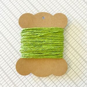10 Metres High Quality Lime Green Paper String