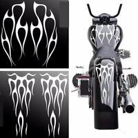 Weiß Motorrad Gas Tank Flamme Aufkleber Dekoration Vinyl Aufkleber Wasserdicht