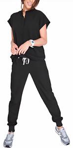 Ambo uniforme Médico de Diseño Spandex Mujer Cuello Mao