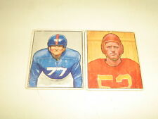 LOT OF 2 1950 BOWMAN FOOTBALL JIM WHITE RC AND HARRY GILMER REAL NICE FOR PRICE