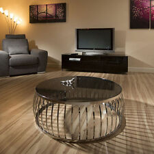 More than 200cm Height Glass Round Modern Coffee Tables
