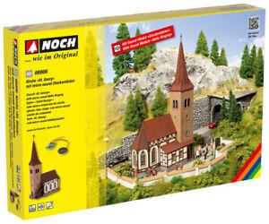 Noch 66906 Gauge H0, Church Pc. Georg With Micro-Sound Glockenläuten Lasercut