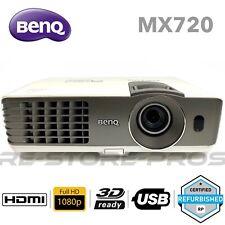 BenQ MX720 3500 ANSI Lumen XGA SmartEco 3D FHD 1080p DLP Projector Under 2500hr