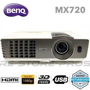 BenQ MX720 3500 ANSI Lumen XGA SmartEco 3D FHD 1080p DLP Projector Under 1000hr