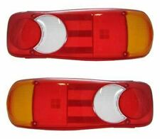 Pair Renault Master Vauxhall Movano Rear Back Tail Light Cover Lens Only Pair