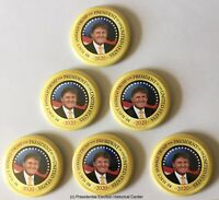 Re Elect Donald Trump for President 2020 Campaign Button 6-Pack Set